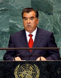 Emomali Rahmon, Presidente del Tagikistan